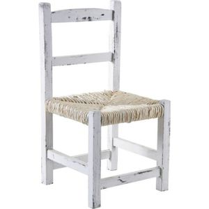 Meuble blanc vieilli achat vente meuble blanc vieilli pas cher cdiscount - Chaise en bois blanc ...