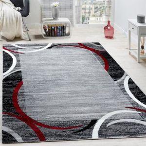 Tapis pour le salon gris, blanc, noir et rouge [80x150 cm] - Achat ...