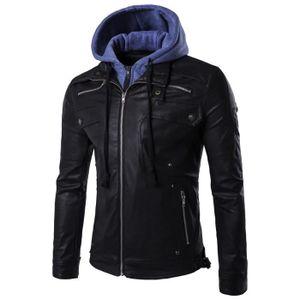 22788dcf5 Veste cuir homme avec capuche - Achat / Vente pas cher