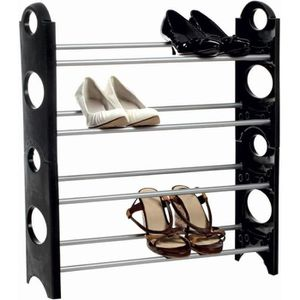 meuble chaussures noir achat vente meuble chaussures noir pas cher cdiscount. Black Bedroom Furniture Sets. Home Design Ideas