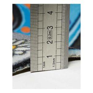 TAPIS Tapis Paillasson imprime BEETLE bleu 40x70, par Un