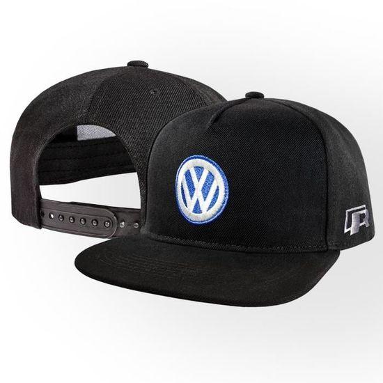 VW Volkswagen R Casquette de Baseball Snapback Noir  687865987ab2