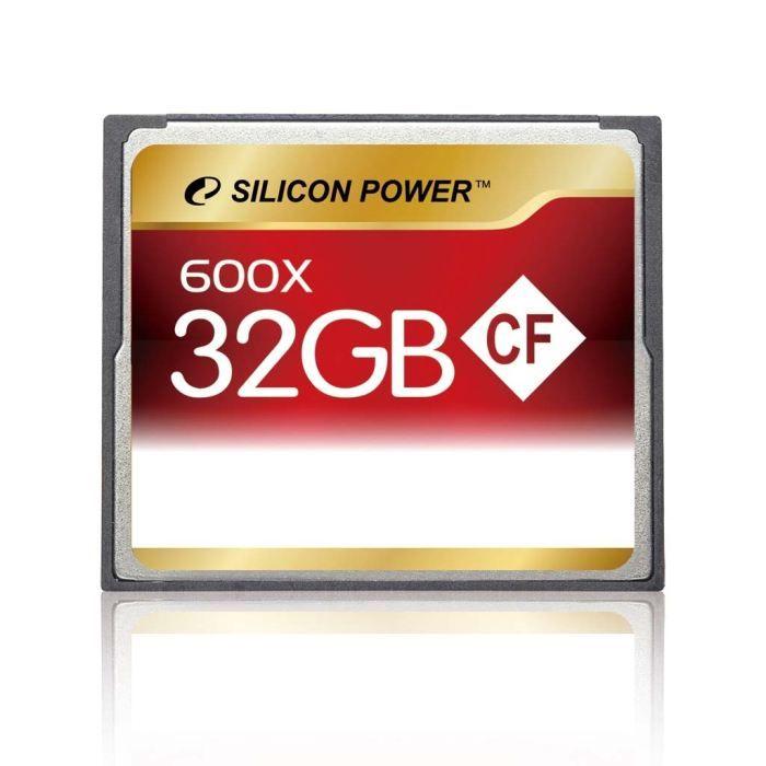 SILICON POWER Carte mémoire Compact Flash 600X - 32 Go