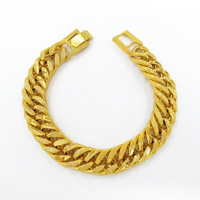 BRACELET - GOURMETTE Bracelet solide Bijoux pour hommes Chaîne épaisse