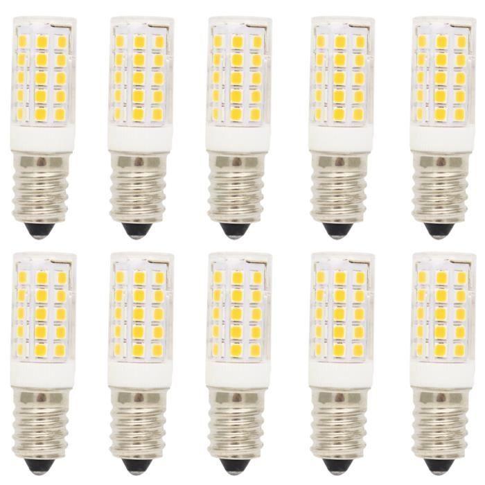 Ac220 Led Super Smd Blanc 5w 400lm Brillant E14 3000k Ampoule Chaud 2835leds Lamps Lampe 44 10x 240v Qhtsrd