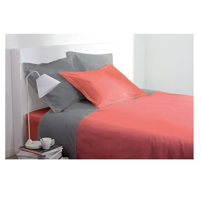 housses de couette housse de couette 1 personne 140x200 cm 100 coton tomette achat vente. Black Bedroom Furniture Sets. Home Design Ideas