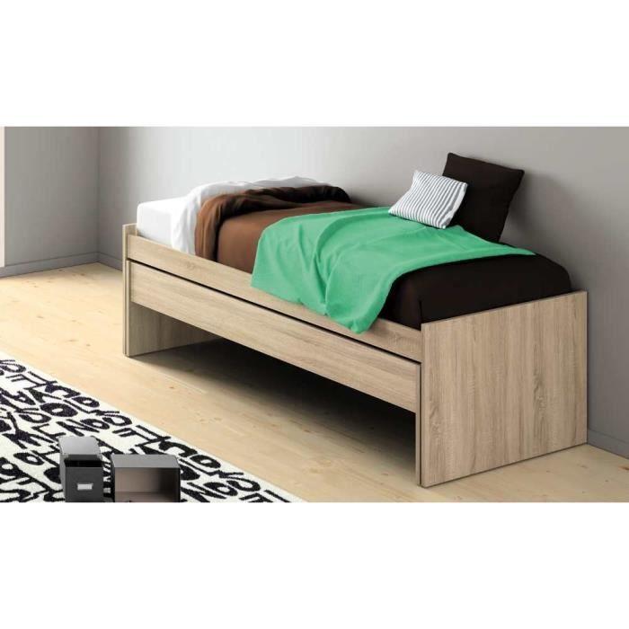 lit gigogne adulte 90x200. Black Bedroom Furniture Sets. Home Design Ideas