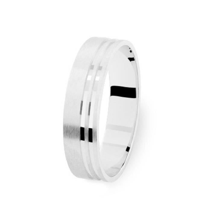 ALLIANCE OR BLANC 18 Cts 4mm