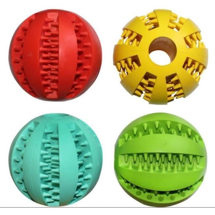 Jouet pour chien en caoutchouc balles pet jouets boule chew jouets dent de nettoyage boules - Lanceur de balles pour chien ...