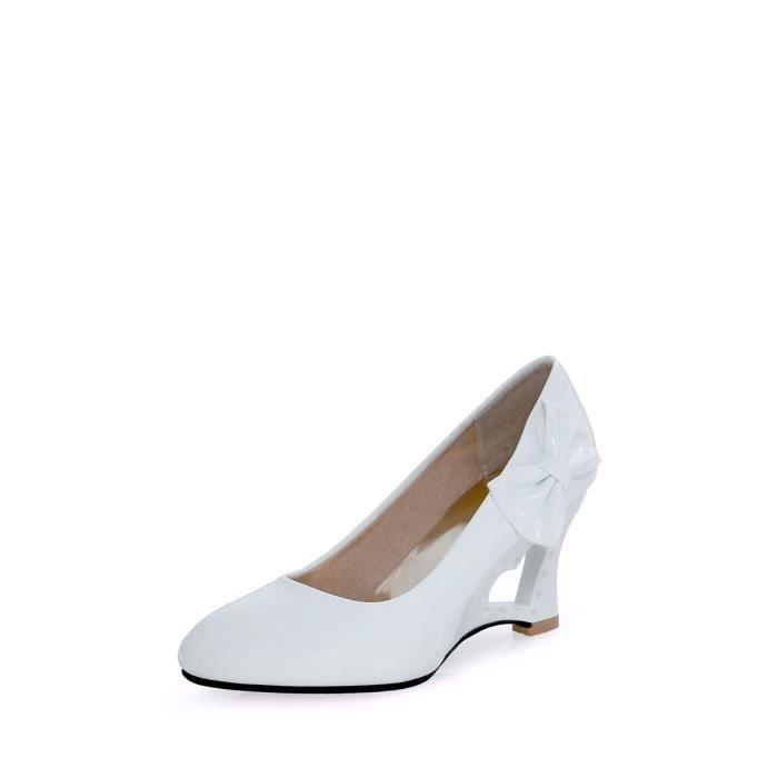Escarpin Femmes Pompes couleur solide bowknot Ornement Chaussures compensées confortable 7098858