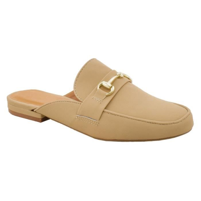 Mule Oxford Slide Slip On Flat Sandal Shoe Loafer P79DI Taille-37 1-2