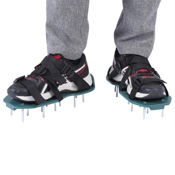 bc5c9a4e9ad Chaussures d aérateur de gazon pour jardin sandales chaussures à pointes  avec boucle (3 sangles)