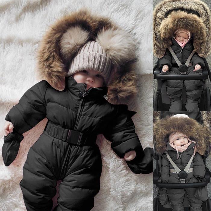 877e0c3fb4ce9 MANTEAU - CABAN Hiver infantile bébé garçon fille barboteuse veste