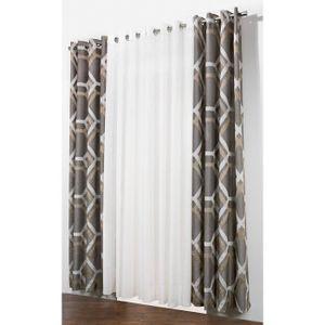 rideau gris et beige achat vente rideau gris et beige. Black Bedroom Furniture Sets. Home Design Ideas