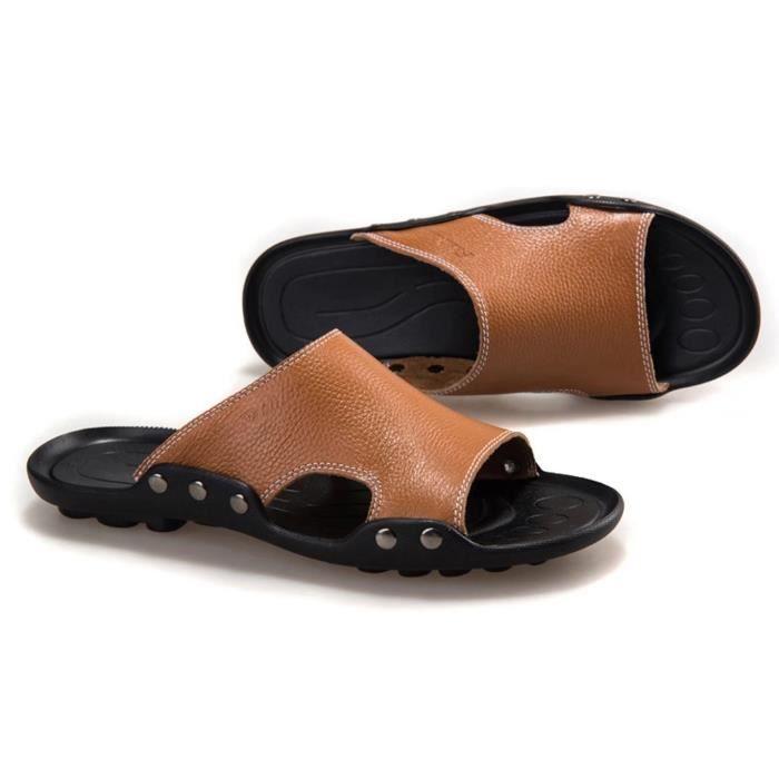 Hommes Sandal Hommes Flops Chaussures Pantoufles Plage Mode Été Des Plat Sandales Chaussons… eYv9hz