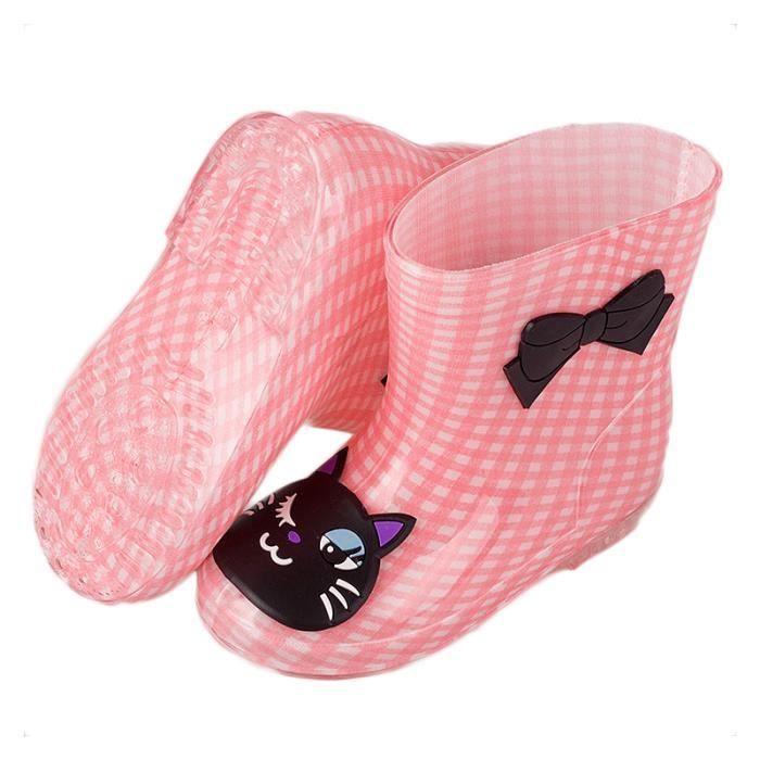 Bottes de Pluie Enfant Chaussures pour Mixte Enfant 3-7 Ans Antidérapantes Bottines Imperméables Et83YoXYRU