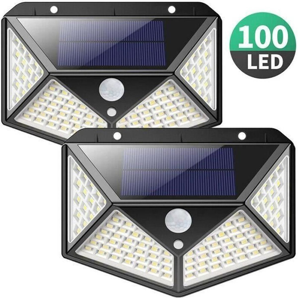 letouch 2 pack lampe solaire ext rieur 100 led d tecteur de mouvement clairage 270 tanche