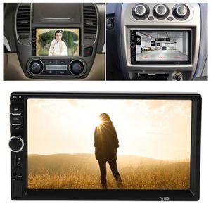 LECTEUR DVD 7018B 7 HD voiture MP4 MP5 lecteur AUX stéréo BT m