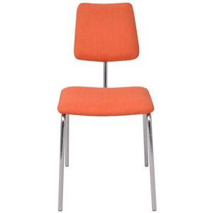 chaise magnifique chaise de salle a manger orange tissu