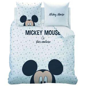 HOUSSE DE COUETTE SEULE Parure de lit enfant Disney Mickey - Taille: 240x2
