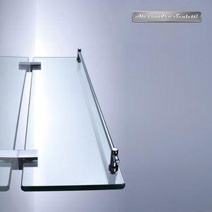 Tablette salle de bain verre - Achat / Vente pas cher