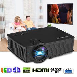Lampe vidéoprojecteur Excelvan Mini Vidéoprojecteur Projecteur LED 1200