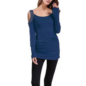 93db16c05f503 T shirt manche longue paillette femme - Achat   Vente pas cher
