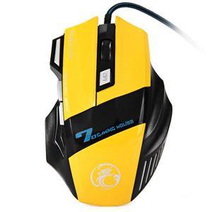 SOURIS X7 3200dpi LED 7 Touche optique 7D USB Wired Gamin
