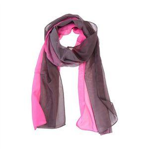 5b72eccc9c18 Écharpes élégantes de femmes en mousseline de soie dégradé foulard ...