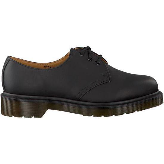 809b74d1307 Dr. Martens Chaussures à lacets 1461 Noir Noir Noir - Achat   Vente basket  - Cdiscount