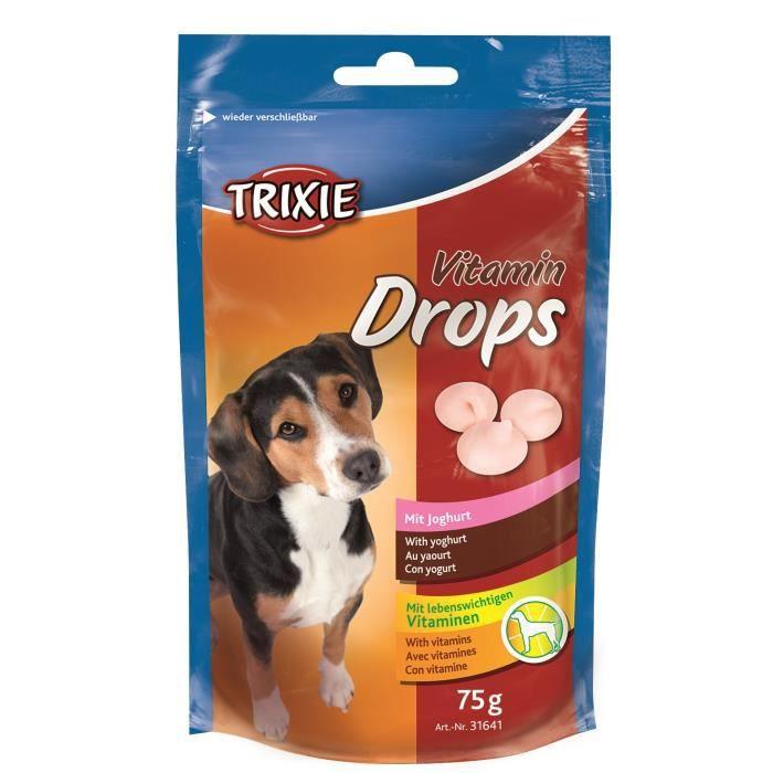 TRIXIE Pastilles Drops vitaminées au yaourt - Pour chien - 75g