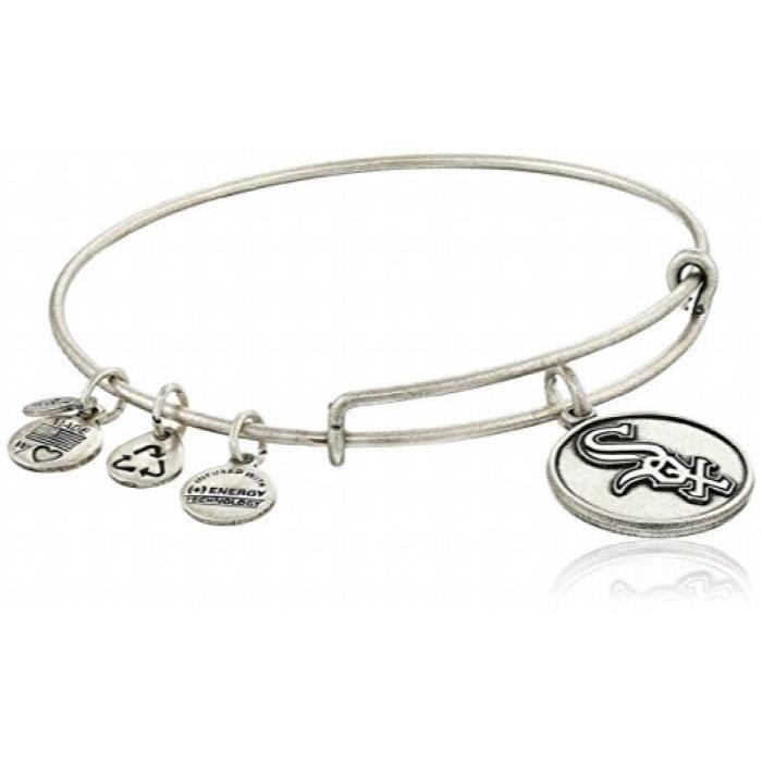 Alex And Ani chicago white sox cap logo bracelet rigide extensible LT169
