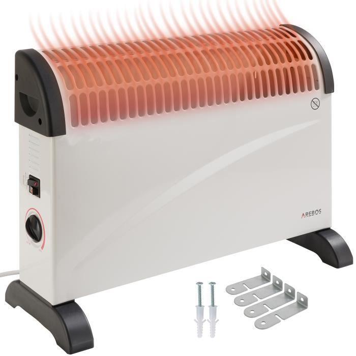 ab13944e66 Arebos Convecteur électrique Radiateur Thermostat Réglable 2000 W ...