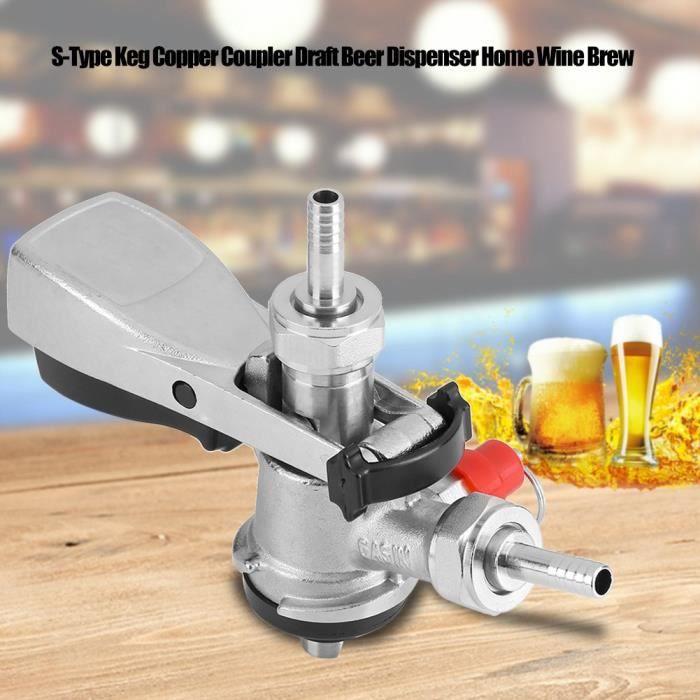MACHINE A BIÈRE  Distributeur de Bière Pression Keg Cuivre Coupleur
