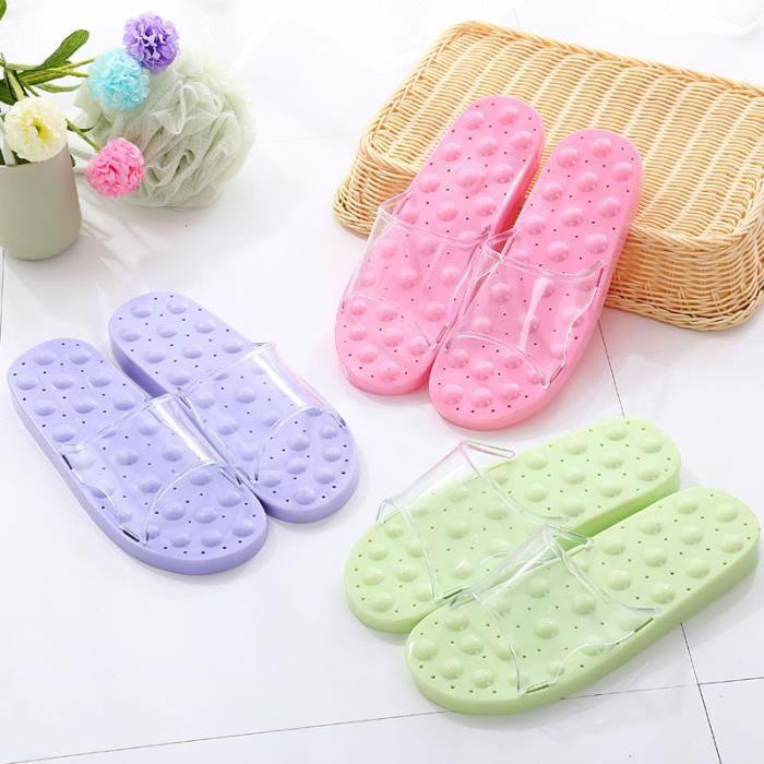 anti-dérapant mâle pantoufles maison d été salle de bains douche de massage  et de couple de femmes en 97a9ac573952