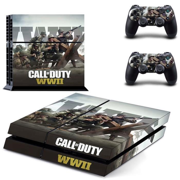 Call Of Duty WWII Housse Dautocollant De Peau Pour Sony PS4 Playstation 4 Console Et Contrleur 32LEDs 01