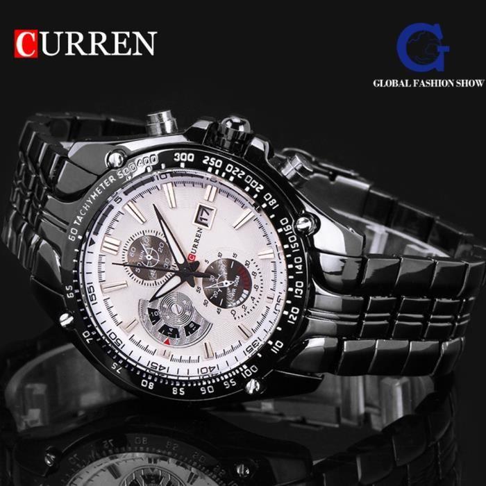 83e2405c263c CURREN Montre bracelet Homme - Acier - Acier - Achat   Vente montre ...