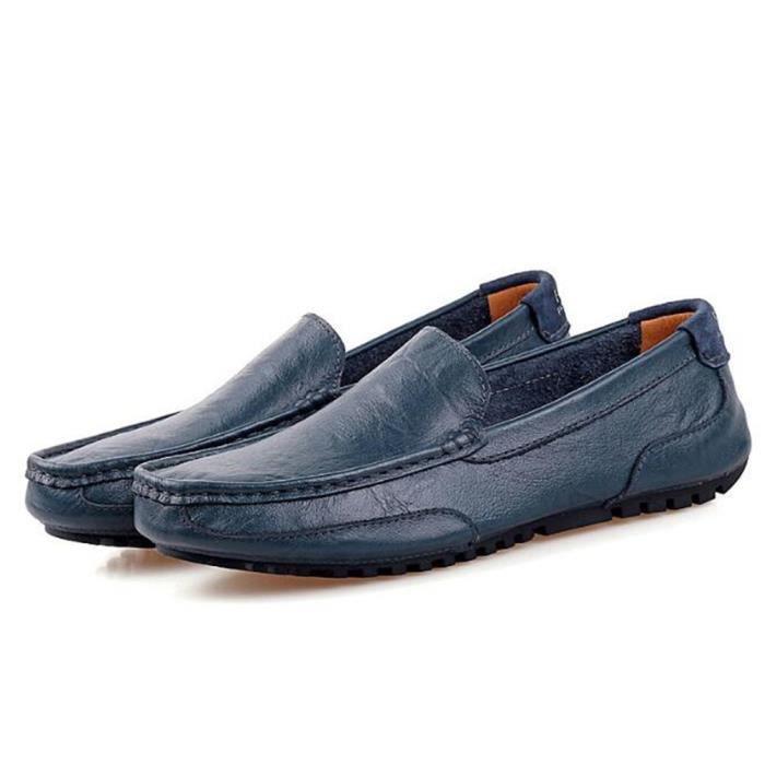 moccasins hommes Marque De Luxe Haut qualité En Cuir Chaussure Travail à la main Poids Léger Classique Grande Taille k1uVvroOLi