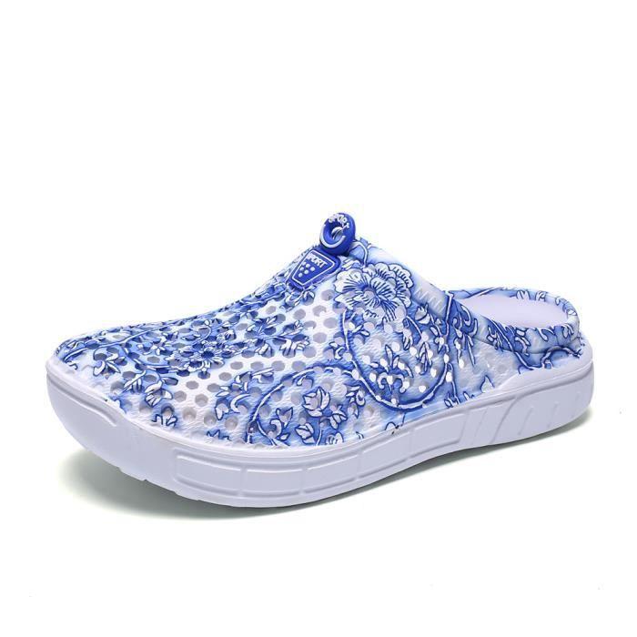 Femmes Pantoufle chaussure femme Loafer Poids Léger tongues chaussures de plage Pour plage Pantoufles Plus Tai dssx077bleu40