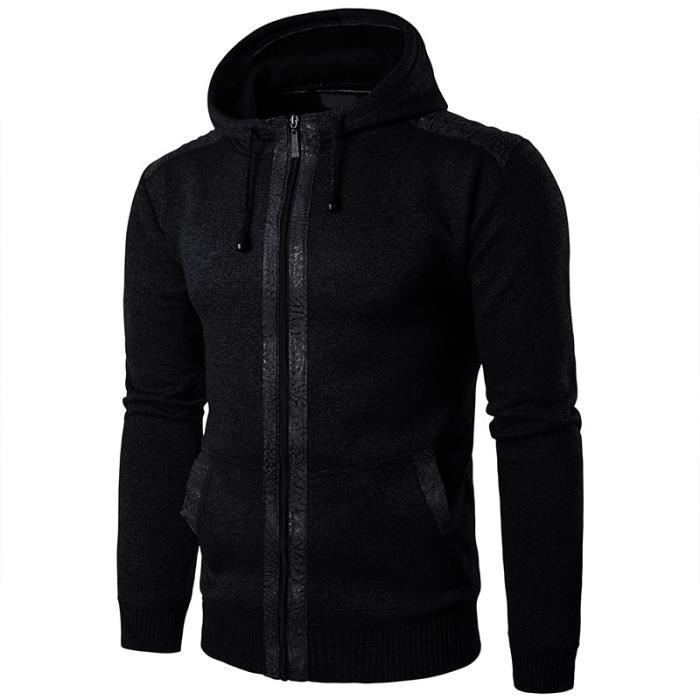 Vêtement Homme Hipster gris Mode Maille De Vêtements Sport Veste D automne Gris  marron noir Baggy En Marque Luxe À Casual Masculin ... 33e006a4b2c