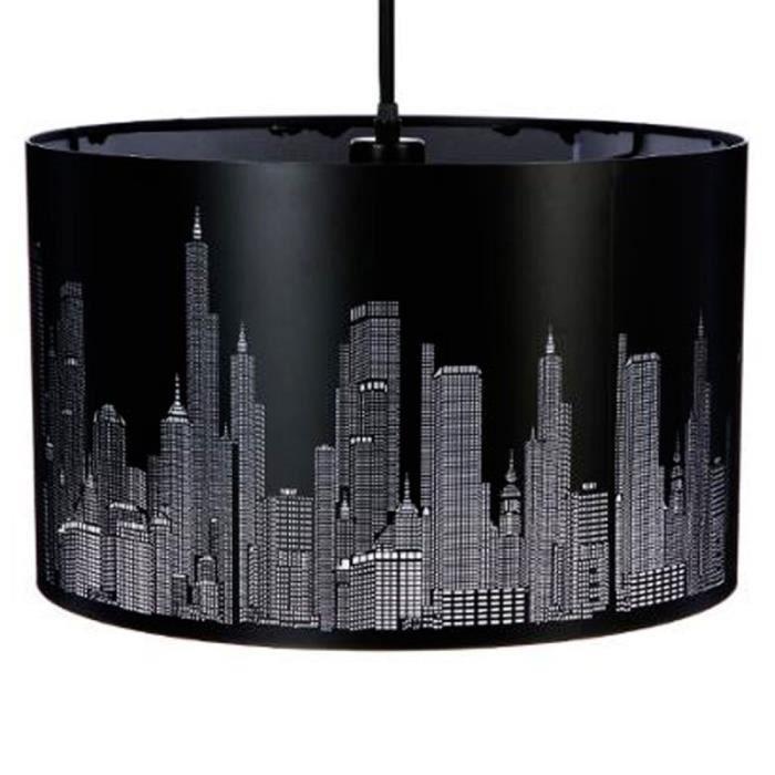 paris prix lampe suspension new york 39cm noir achat vente paris prix lampe suspensi. Black Bedroom Furniture Sets. Home Design Ideas
