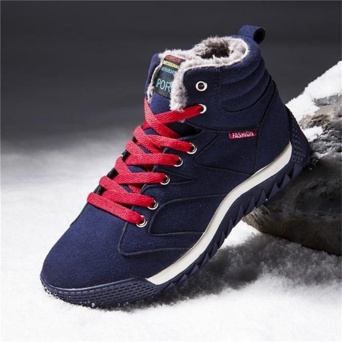 neige garder de les cheville air Bottes peluche pour en botte plein chaud en D'hiver Bottes hommes FIEg54Fq