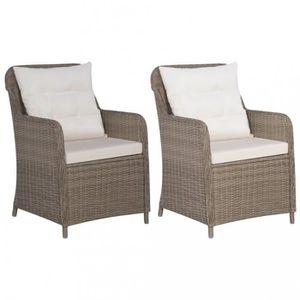 Table et chaise de jardin en resine tressee - Achat / Vente Table et ...