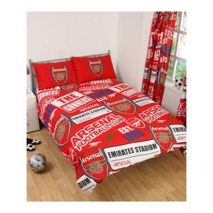 HOUSSE DE COUETTE SEULE Arsenal FC Patch Double Housse de couette et taie