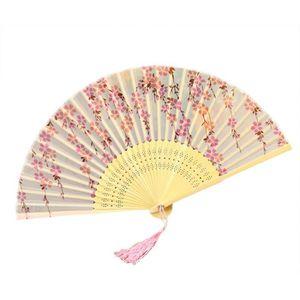 ACCESSOIRE DÉGUISEMENT eventail Japonais Femme Motif de Fleurs Papillons