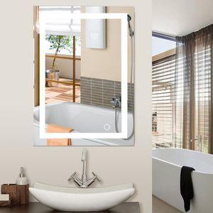 Miroir salle de bain led 60x80 achat vente miroir salle de bain led 60x80 pas cher soldes - Miroir salle de bain cdiscount ...