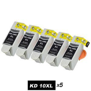 CARTOUCHE IMPRIMANTE 5 Pack Noir Cartouches d'encre Kodak 10 Compatible