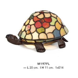 LAMPE A POSER Casa Padrino Tiffany Deco Lamp Turtle Stained Mod2