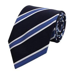 CRAVATE - NŒUD PAPILLON Fabio Farini cravate de rayé en bleu noir blanc 1Y