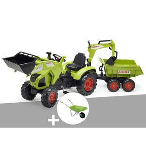 TRACTEUR - CHANTIER Tractopelle enfant Class Axos + excavatrice + remo